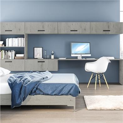 Bella London Concrete Bedroom