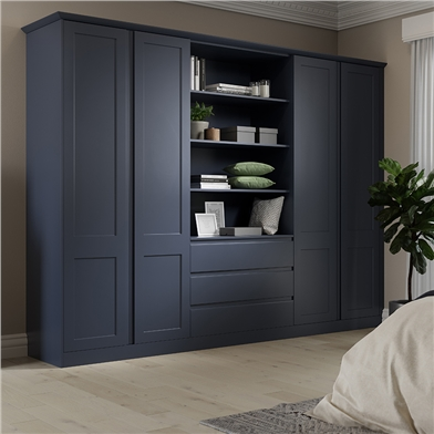 Bella Matt Indigo Blue Bedroom