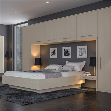 Bella Oakgrain Cashmere Bedroom