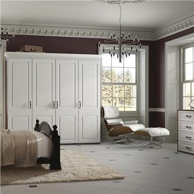 Bella Satin White Bedroom