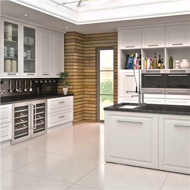 Bella Satin White Kitchen