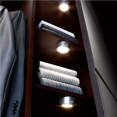 Solus LED Rechargeable Wardrobe Light (3 Lights)
