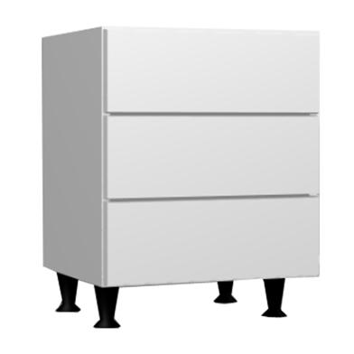 Three Drawer Bedside (Metabox)