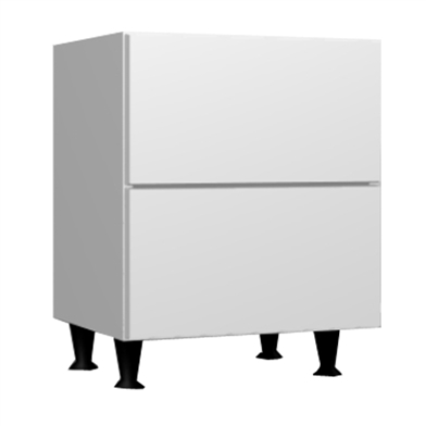 Two Drawer Bedside Unit (Metabox)