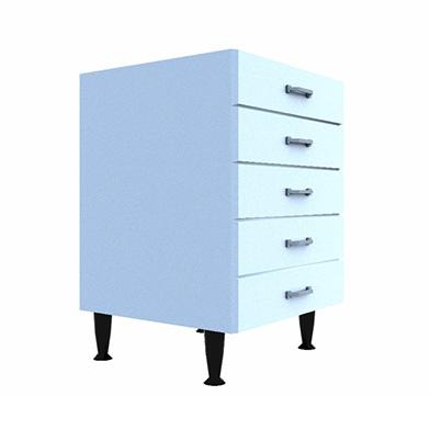 Drawer Base (Five Drawer Type: C)