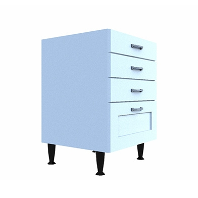 Drawer Base (Four Drawer Type: E)