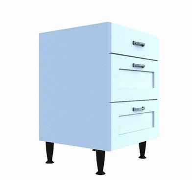 Drawer Base (Three Drawer Type: F)