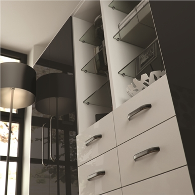 Ultra Gloss Glacier White Drawers