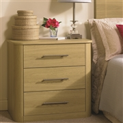 Three Drawer Bedside