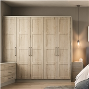 Fitted wardrobes with Aldridge four panel wardrobe doors