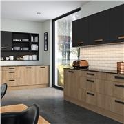 Bella Matt Graphite/Halifax Oak Kitchen
