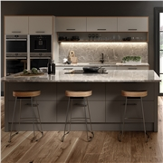 Serica Matt Pebble and Matt Taupe Kitchen Doors