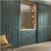 Oxford Wardrobe Doors in Fitted Bedroom Finished in Pippy Oak
