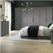 Richmond Fitted Bedroom in High Gloss Dust Grey