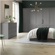 Richmond Fitted Bedroom in High GlossDust Grey