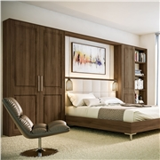 Tuscany Fitted Bedroom Finished in Natural Walnut