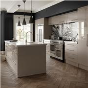 Zurfiz Ultra Gloss Stone Grey Kitchen and Wardroors