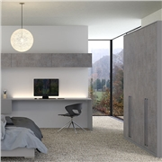 Smooth Dust Grey and Anthracite Fabric Metal