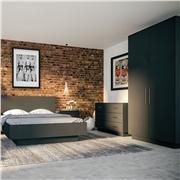 Bedroom with Matt Graphite Venice Wardrobe Doors