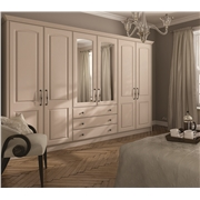 Fitted Bedroom with Verona Wardrobe Doors Finished in Matt Cashmere