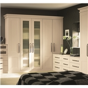 Bella Fitted Bedroom with Warwick Ivory Wardrobe Doors