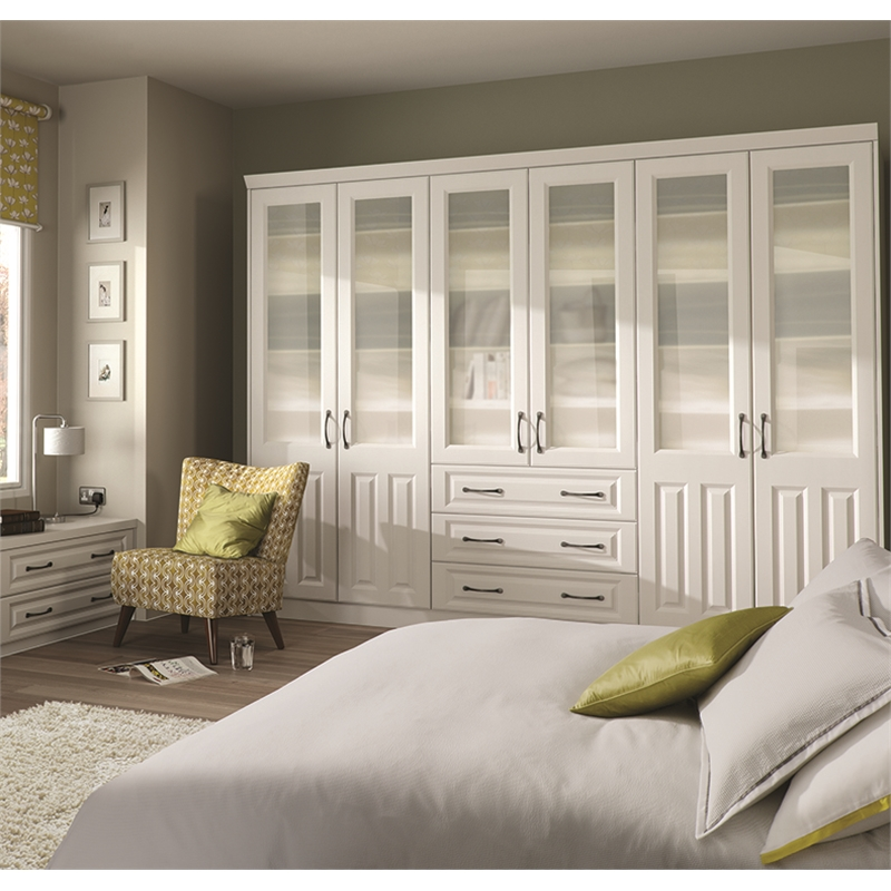 ... Bella Milano Super White Ash Fitted Bedroom & Milano Wardrobe Doors   Milano Replacement Wardrobe Doors