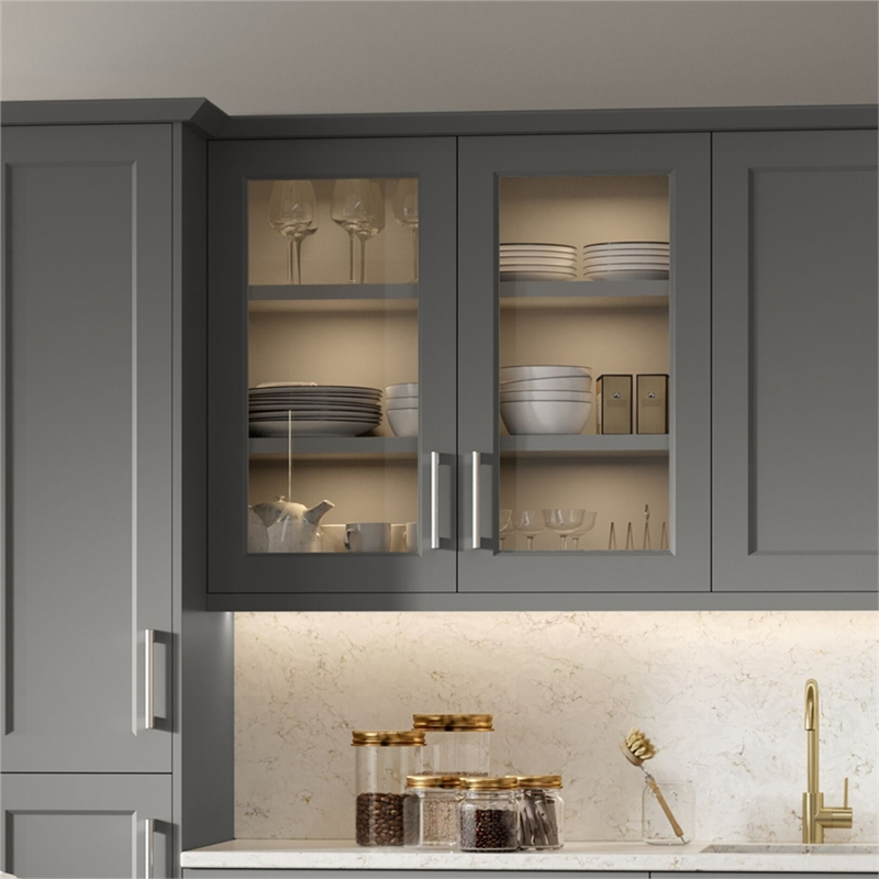 Open Frame Wardrobe Cupboard Doors, Glass Kitchen Cupboard Doors Uk