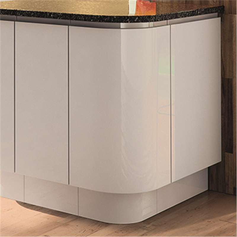 Curved base unit bedroom and kitchen units for Curved kitchen units uk