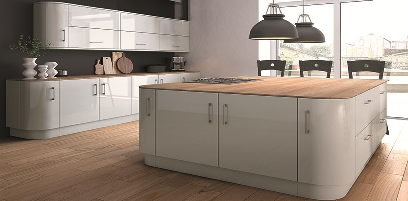 Acrylic made to measure high gloss kitchen doors from for Kitchen units grey gloss